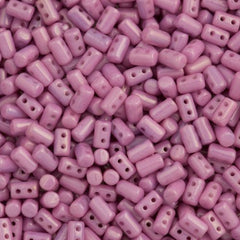 Czech Rulla 3x5mm Two Hole Beads Lilac Luster 15g (03000LL)