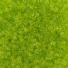 Miyuki Delica Seed Bead 15/0 Transparent Lime Green 2-inch Tube DBS712