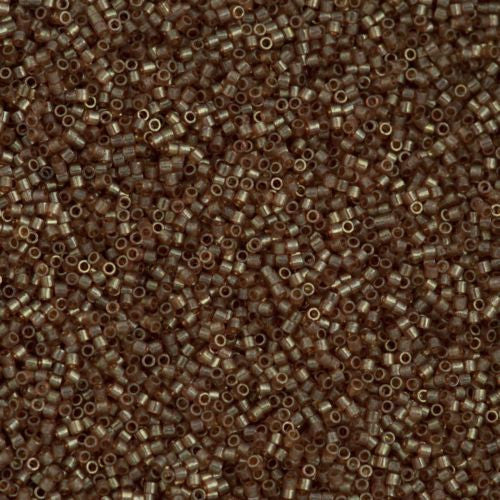 Miyuki Delica Seed Bead 15/0 Transparent Gold Luster Light Brown 2-inch Tube DBS102