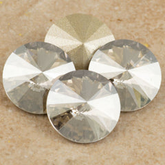 Four Swarovski Crystal 12mm 1122 Rivoli Crystal Silver Shade (001 SSHA)