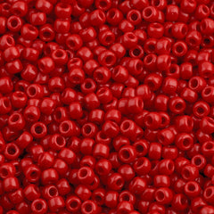 Toho Round Seed Beads 6/0 Opaque Cherry 5.5-inch tube (45A)