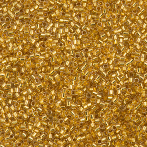 Miyuki Delica Seed Bead 10/0 24kt Gold Lined Crystal 7g Tube DBM33