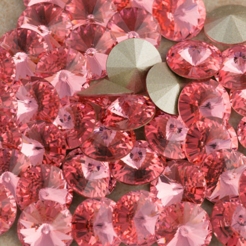 Six Swarovski Crystal SS47 1122 Rivoli Rose Peach (262)