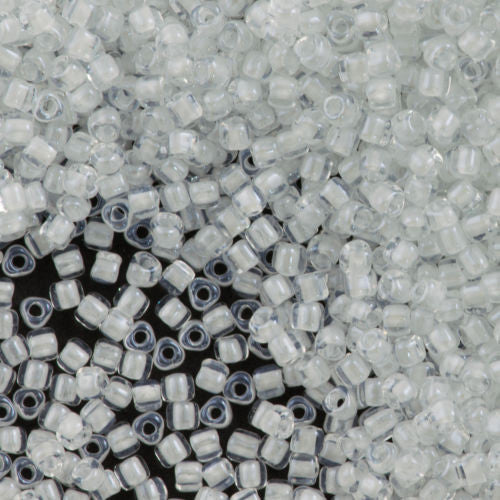 Miyuki Triangle Seed Bead 5/0 Inside Color Lined White 15g (1104)