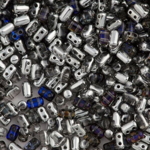 Czech Rulla 3x5mm Two Hole Beads Crystal Heliotrope 15g (00030HEL)