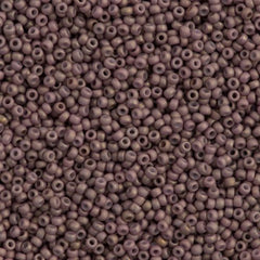 Miyuki Round Seed Bead 11/0 Opaque Matte Pale Cocoa 22g Tube (2027)