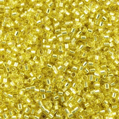Miyuki Delica Seed Bead 10/0 Silver Lined Yellow 5g DBM145