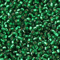 Miyuki Delica Seed Bead 10/0 Dyed Emerald Silver Lined 7g Tube DBM605