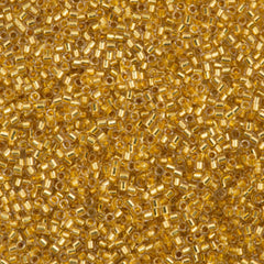 Miyuki Delica Seed Bead 15/0 24kt Gold Lined Crystal 2-inch Tube DBS33