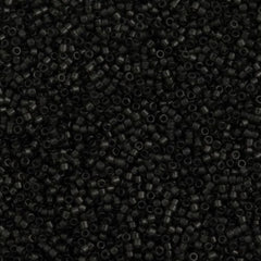 Miyuki Delica Seed Bead 11/0 Transparent Dyed Color Dark Grey 7g Tube DB1319