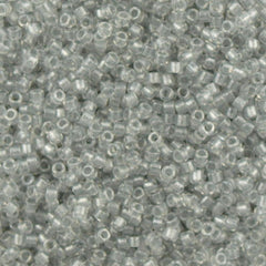 Miyuki Delica Seed Bead 10/0 Inside Dyed Color Crystal Silver 7g Tube DBM271