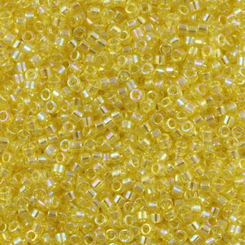Miyuki Delica Seed Bead 15/0 Transparent Yellow AB 5g DBS171