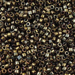 Miyuki Delica Seed Bead 15/0 Opaque Luster Bronze 2-inch Tube DBS254