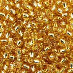Toho Round Seed Beads 6/0 Transparent Gold Silver Lined 30g (22)