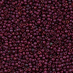 50g Toho Round Seed Bead 11/0 Gold Luster Raspberry (332)
