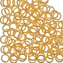 144pc 21ga. Jump Ring 4mm Gold Plated I.D. 2.5mm