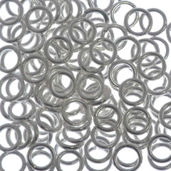 144pc Jump Ring 4mm Silver Plated I.D. 2.5mm
