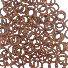 144pc 18ga. Jump Ring 6mm Copper Plated I.D. 3.8mm