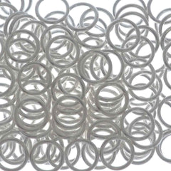 144pc Jump Ring 8mm Silver Plated I.D. 6mm