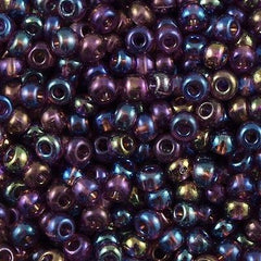 Czech Seed Bead Transparent Amethyst AB 30g 6/0 6-21060