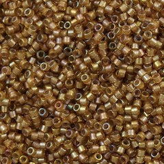 Miyuki Delica Seed Bead 11/0 Inside Dyed Color Coffee Latte AB 7g Tube DB288