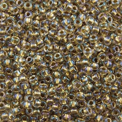 Toho Round Seed Bead 11/0 Inside Color Lined Bronze AB 19g Tube (262)