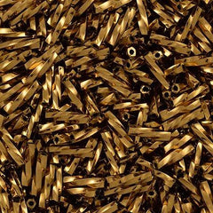 25g Toho 9mm Twisted Bugle Seed Bead Bronze (221)