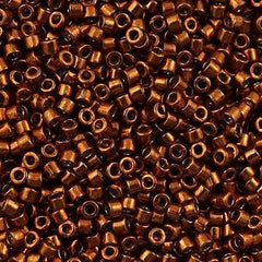Miyuki Delica Seed Bead 11/0 Nickel Plated Dyed Copper 7g Tube DB461