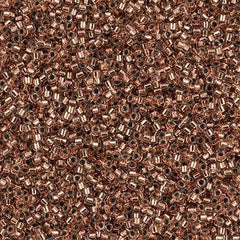 25g Miyuki Delica Seed Bead 11/0 Copper Lined DB37