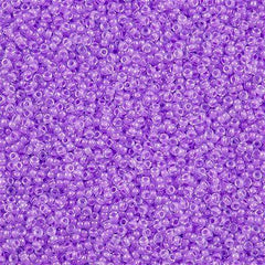 Miyuki Round Seed Bead 15/0 Inside Color Lined Lavender 2-inch Tube (222)