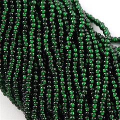 Czech Seed Bead Dark Green Silver Lined 1/2 Hank 11/0 (57150)