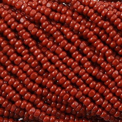 Czech Charlotte Seed Bead Brown 1/2 Hank 13/0 (13600)
