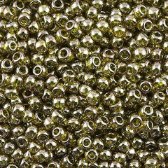 Toho Round Seed Beads 6/0 Gold Luster Green Tea 30g (457)