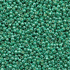 Toho Round Seed Beads 11/0 Permanent Finish Galvanized Green Teal 15g 11-561PF