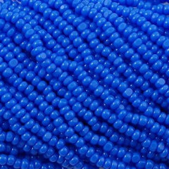 Czech Charlotte Seed Bead Medium Blue 1/2 Hank 13/0 33040