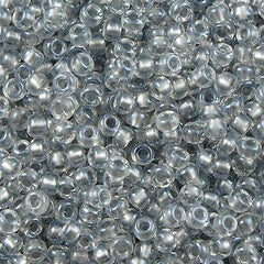 50g Miyuki Round Seed Bead 11/0 Inside Color Lined Pewter (242)