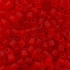 Miyuki Delica Seed Bead 8/0 Transparent Matte Red 6.7g Tube DBL745