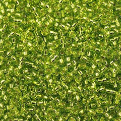 Miyuki Round Seed Bead 8/0 Silver Lined Lime Green 30g (14)