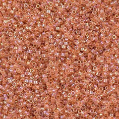 Miyuki Delica Seed Bead 11/0 Inside Dyed Color Peach AB 7g Tube DB54