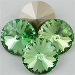 Four Swarovski Crystal 12mm 1122 Rivoli Peridot (214)