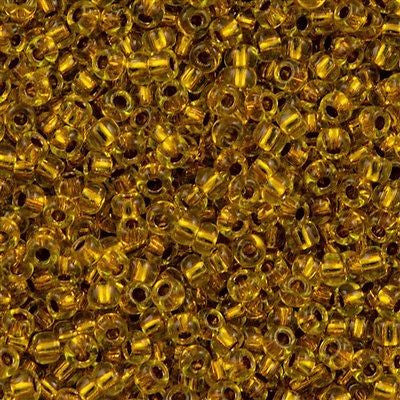 Toho Round Seed Beads 11/0 Copper Lined Marigold 15g (745)