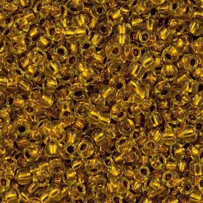 50g Toho Round Seed Beads 11/0 Copper Lined Marigold (745)