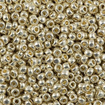 Toho Round Seed Beads 6/0 Permanent Finish Galvanized Aluminum 30g (558PF)