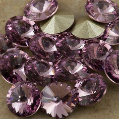 Six Swarovski Crystal SS39 1122 Rivoli Light Amethyst (212)