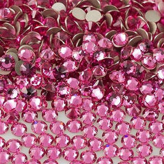 144 Swarovski Xilion Rose Flat Back SS12 2058 Rose (209)