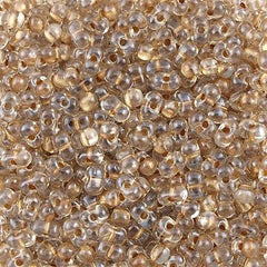 Miyuki Berry Seed Bead Inside Color Lined Sparkle Beige 15g BB-1521