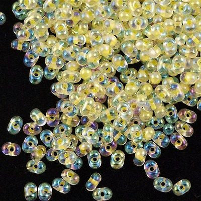 Miyuki Berry Seed Bead Inside Color Lined Light Yellow AB 15g BB-273