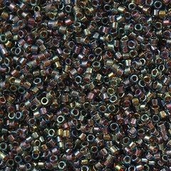 25g Miyuki Delica Seed Bead 11/0 Inside Dyed Color Blue Gold DB1775