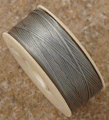 Size B Nymo Nylon Grey Thread 72 yard bobbin