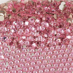 144 Swarovski Xilion Rose Flat Back SS9 2058 Light Rose (223)